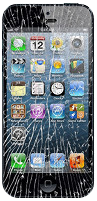 Iphone cracked glass