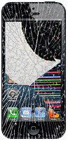 Iphone cracked glass and lcd